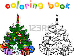 5 080 christmas coloring book stock illustrations cliparts