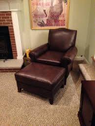 Chairs And Ottomans Chairs Leather Chair Ottoman Pottery Barn Brown Furniture