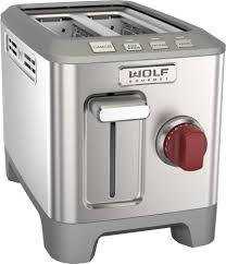 Rotary Toaster Wolf Wgtr102s Countertop Toaster With 2 Slice Capacity Keep Warm