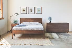 solid walnut berkeley bed frame and headboard available in