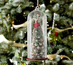 tree in glass cloche ornament pottery barn