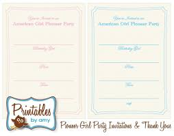 printable invitations girl pioneer party free printable invitation