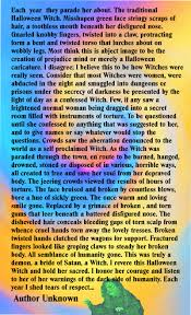 Halloween Witch Poems The Halloween Witch The Green Hag