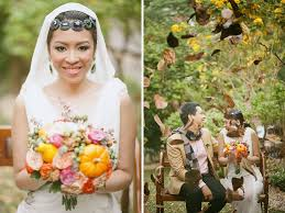 thanksgiving themed wedding from rebellious brides bored panda