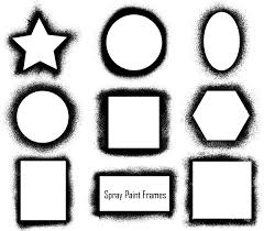 spray paint frames vector pack vector u0026 photoshop brushes