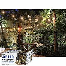 heavy duty outdoor string lights amazon com 48 feet led outdoor weatherproof color changing string
