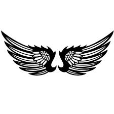 black wings graphic design vector vector free