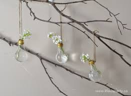 Flower Light Bulbs - diy hanging light bulb flower vases gardenoholic