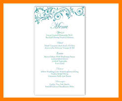 editable menu template 6 wedding menu template word teller resume