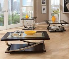 Coffee Table Set Glass Top End Table And Coffee Table Glass Table Set Wood And