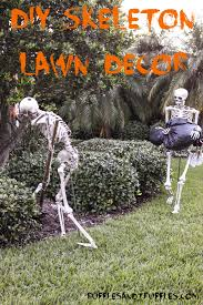 diy skeleton lawn decor for halloween home design garden