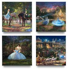 cinderella gallery wrapped canvases set of 4 14 x 14 gallery