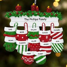 personalized ornaments for family at personal creations