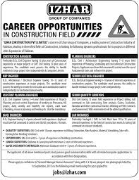 civil engineering jobs in dubai for freshers 2015 movies izhar group of companies jobs 2015 dae education