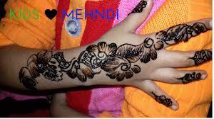 Kids Designs by Mehndi Designs For Kids Simple U0026 Easy Way Youtube