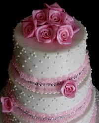 three layer wedding cake pink roses cake studio botswana