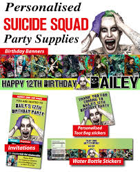 party city halloween party favors squad poster invitation dc squad party ideas