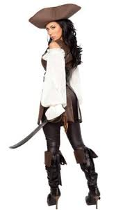 Halloween Costumes Pirate Woman Pirate Lady Gold Womens Sea Sailor Halloween Costume