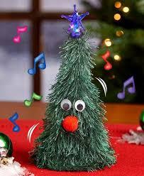 singing christmas tree animated singing christmas tree led topper whimsical ho