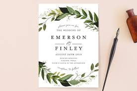 wedding invatations vines of green wedding invitations by susan moyal minted