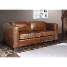 canap marron cuir canapé vintage 3 places en cuir marron salons industrial and