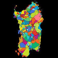 Sardinia Map Sardinia Island Italy Colorful Vector Map On Black By