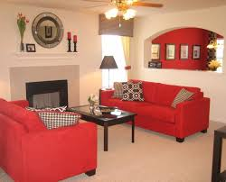 Living Room Layout With Fireplace by Simple Living Room Layout Arrangements With Red Sofa And Fireplace
