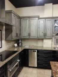 Distressed Black Kitchen Cabinets by Red And Black French Country Kitchens Designs French Country
