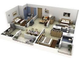 2 floor 3 bedroom house plans bed 62 3d three bedroom house plans 13 more 3 bedroom 3d floor