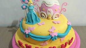 cinderella cake full fondant icing decorating youtube