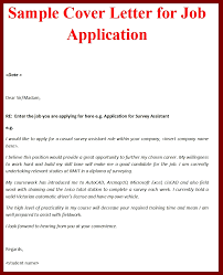 cover letter cover letter sample application cover letter job