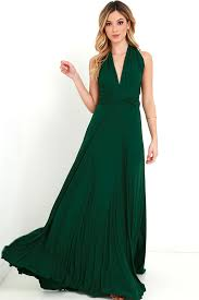 high quality tricks of the trade forest green maxi dress