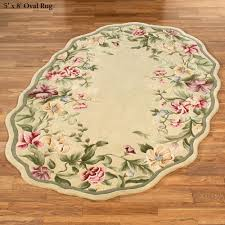 Red Oval Rug Floral Rugs Touch Of Class