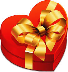 heart gifts large heart gift box with gold bow clipart gallery yopriceville