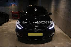 hyundai accent lights projection led daytime running light lights l for 2011