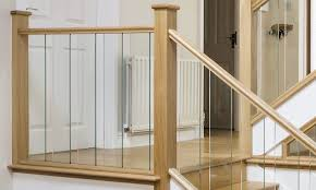 Glass Stair Banisters Oak Staircase With Beautiful Glass Spindles Neville Johnson