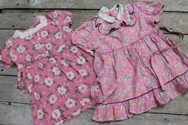 lot of 50s 60s vintage clothes for little girls everyday dresses