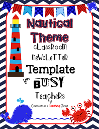 Nautical Themed Music - nautical theme newsletter template for busy teachers newsletter