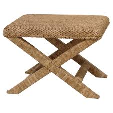 Seagrass Furniture Roderic Coastal Beach Natural Seagrass Stool Kathy Kuo Home