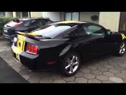 Yellow Mustang With Black Stripes Mustang Gt Black And Yellow Youtube