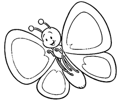 butterfly cartoon clip art black and white