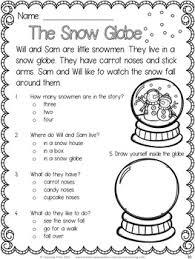 snowman activities snowmen reading comprehension worksheets