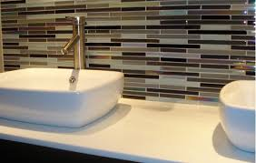 Bathroom Vanity Backsplash by Bathroom Vanity Backsplash Ideas How To Install Subway Tile
