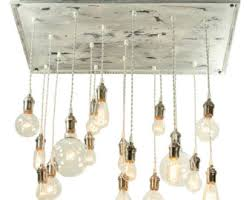 Shabby Chic Chandeliers by Rustic Industrial Chandelier Bare Bulb Chandelier With
