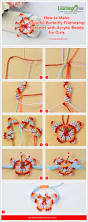 tutorial on how to make colorful butterfly friendship bracelet