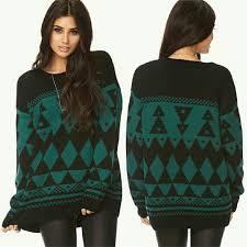 boyfriend sweaters forever 21 hp geo boyfriend sweater tribal knit