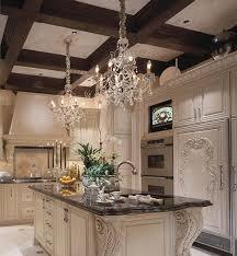chandelier over kitchen island also crystal lighting quoizel