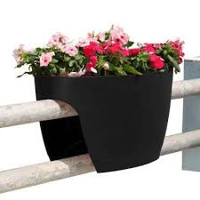 Rail Hanging Planters by Railing Planters Pots U0026 Planters The Home Depot