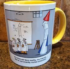 vtg far side coffee mug gary larson we u0027re not exactly rocket