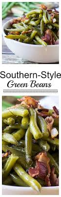 southern style green beans with bacon cooked and until
